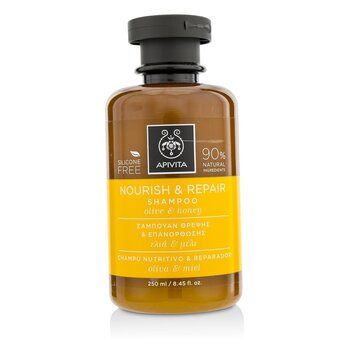 Apivita Nourish & Repair Shampoo with Olive & Honey (For Dry-Damaged Hair)