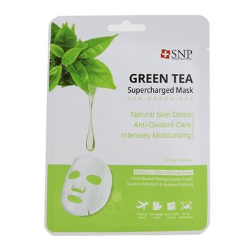 SNP Green Tea Supercharged Mask (Detox) (Exp. Date: 08/2021)